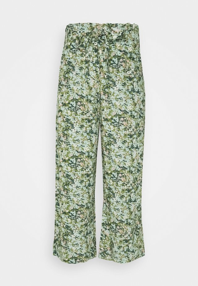 PANTS WIDE LEG BELT - Tygbyxor - multi/fresh herb