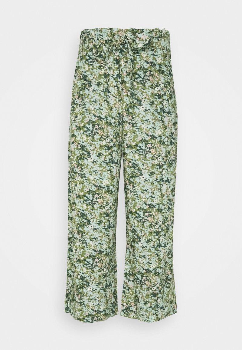 Marc O'Polo DENIM - PANTS WIDE LEG BELT - Kalhoty - multi/fresh herb