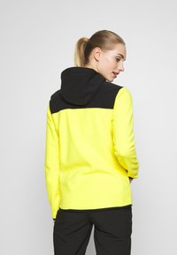 The North Face - WOMENS GLACIER FULL ZIP HOODIE - Fleecejas - lemon/black
