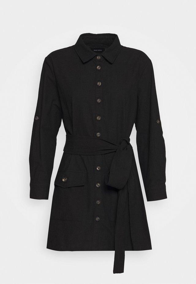 BELTED DRESS - Skjortklänning - black
