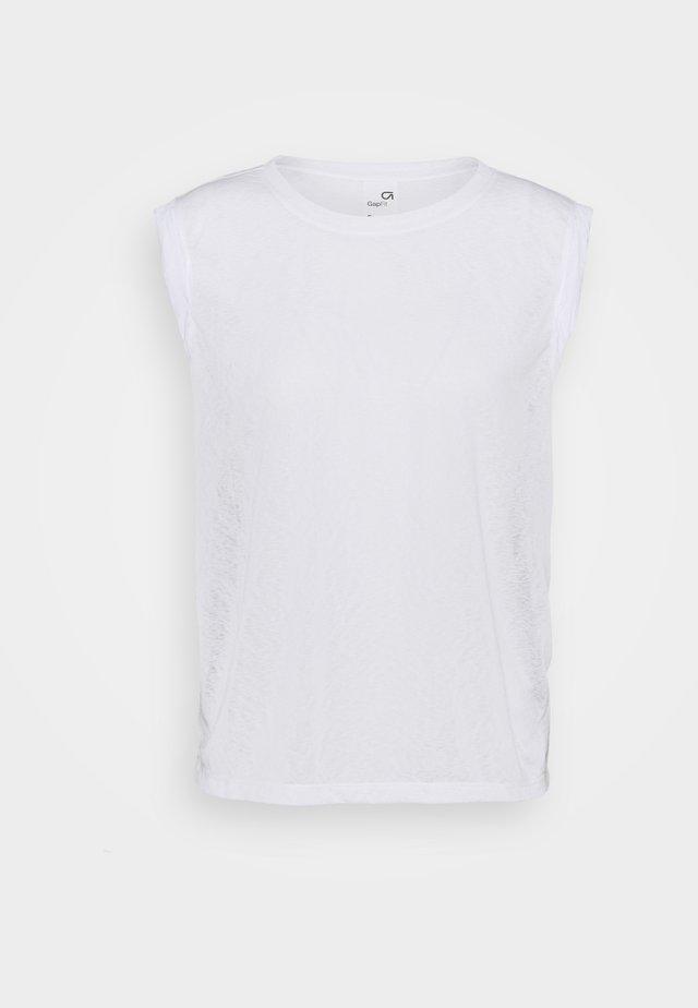 TISSUE ROLL SLEEVE TANK - T-shirt basic - optic white