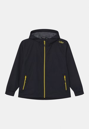 RAIN FIX HOOD  - Waterproof jacket - antracite/lemonade