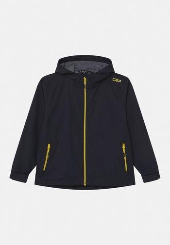 RAIN FIX HOOD UNISEX - Waterproof jacket - antracite/lemonade