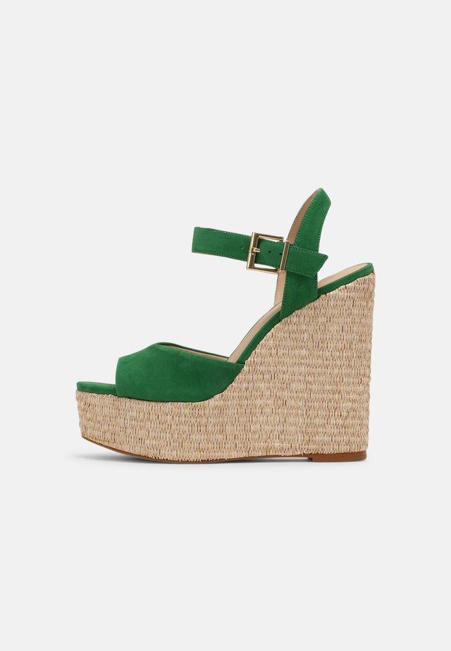 JAMEA 2 - Sandalen met plateauzool - vert