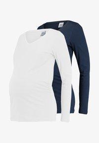 MAMALICIOUS - MLANNIA 2 PACK  - Top sdlouhým rukávem - navy blazer/snow white - 3