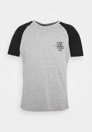Apdrukāts T-krekls - light grey marl/ black