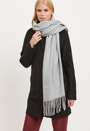 SCHAL WOLL- - Scarf - light grey