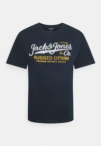 Jack & Jones - JPRBLUSTAR TEE MARCH 3 PACK - T-shirt z nadrukiem - navy blazer - 1