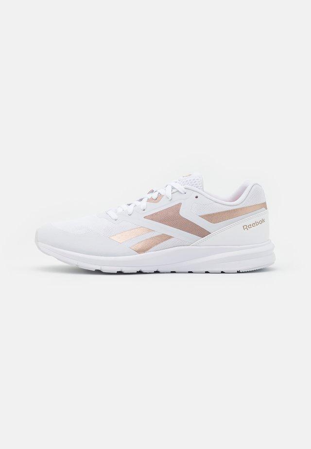 RUNNER 4.0 - Chaussures de running neutres - white/rose gold