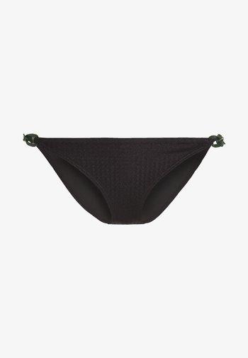 TEXTURED CHAIN BOTTOM - Spodní díl bikin - black