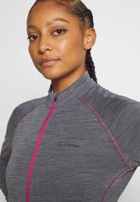 LÖFFLER - BIKE PACE - Training jacket - grey melange/magenta - 4