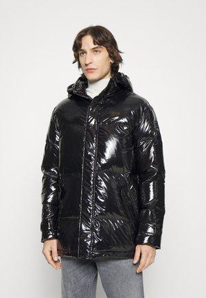HOODED JACKET - Down coat - black