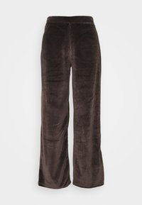 Noisy May - NMABBY LOOSE PANT - Trousers - chocolate brown - 0