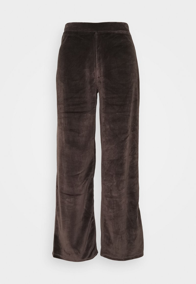 Noisy May - NMABBY LOOSE PANT - Trousers - chocolate brown