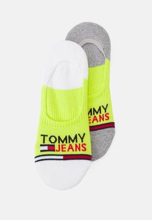 NO SHOW MID CUT SOCKS 2 PACK UNISEX - Sportovní ponožky - lime