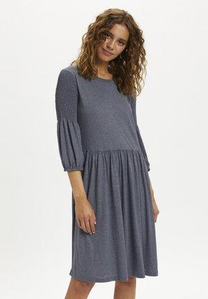 Žerzejové šaty - winter blue melange