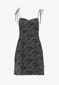 VIUMA DITSY FLOWER STRAP DRESS - Denní šaty - black