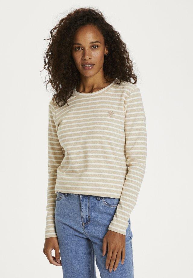LIDDY - Long sleeved top - brown, evergreen