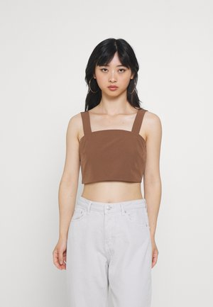 CROP WITH WIDE STRAPS - Top - chocolate