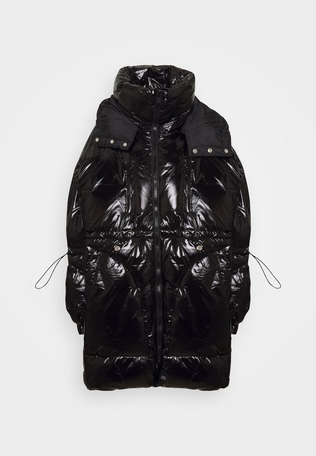 LONG PUFFER WITH HOOD - Vinterkappa /-rock - black