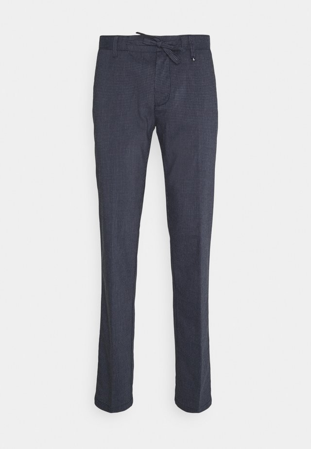 DRAWSTRING BUTTONED  - Chinos - blue