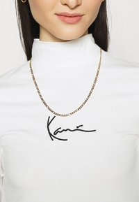 Karl Kani - SMALL SIGNATURE TURTLE - Top s dlouhým rukávem - white - 5