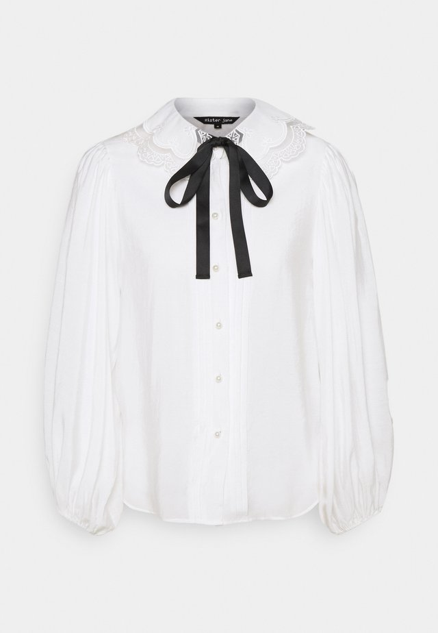 GRAND STAND BOW SHIRT - Pusero - ivory