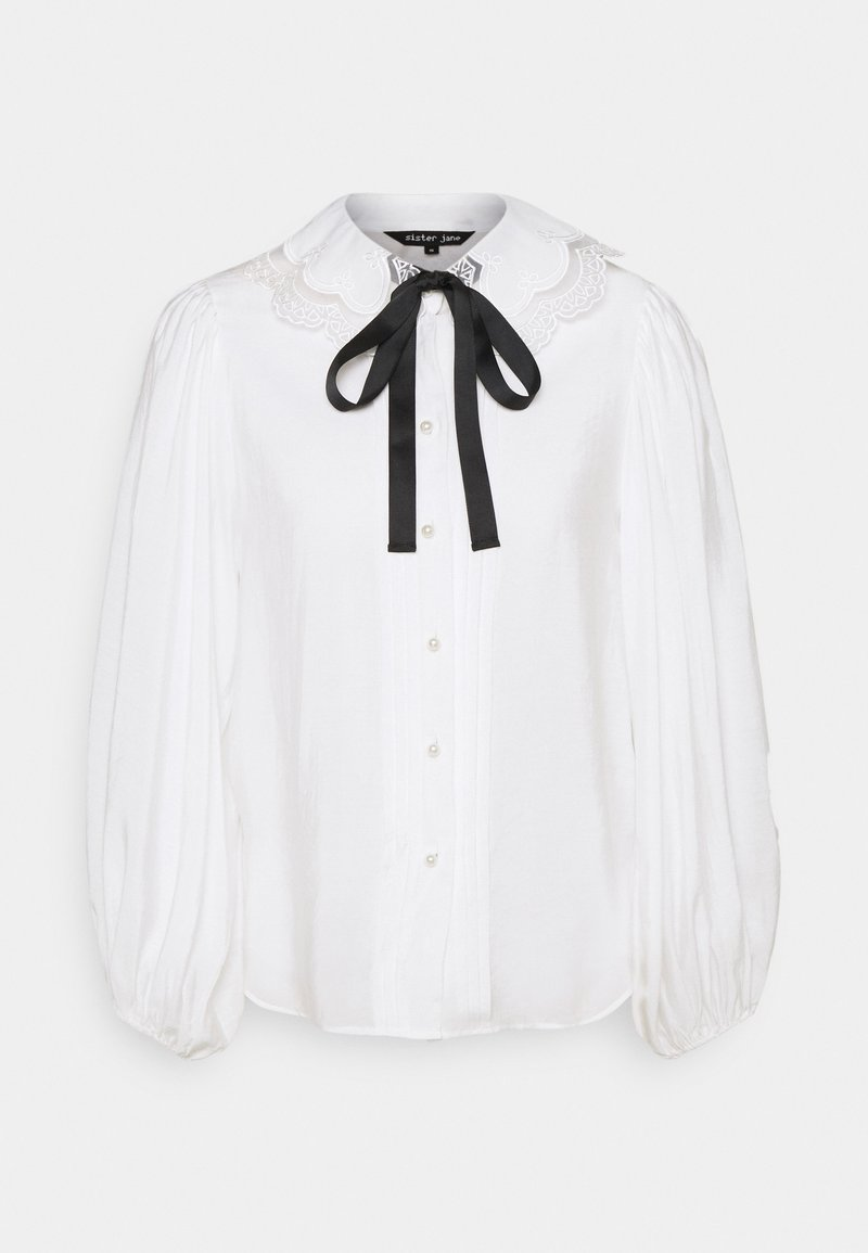 Sister Jane - GRAND STAND BOW SHIRT - Blouse - ivory
