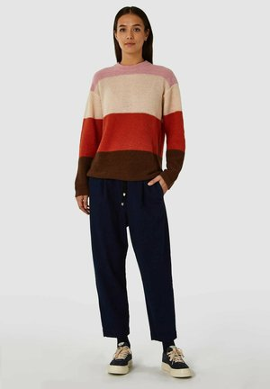 MAY - Trui - bold stripe orange