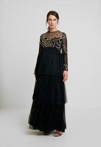 Maya Deluxe Maternity - EMBELLISHED BODICE MAXI DRESS - Maxikleid - black - 2