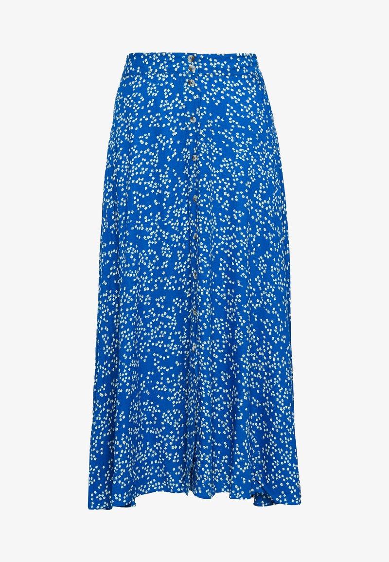 Leon & Harper - JACINTHE - A-line skirt - blue