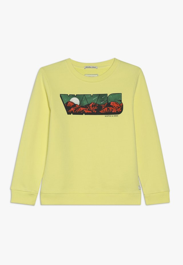 CREWNECK WITH COLOURFUL TRANSFER ARTWORK - Sudadera - sun beam