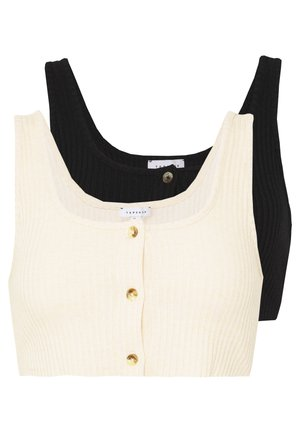 TORT BUTTON BRALET 2 PACK - Top - black/cream