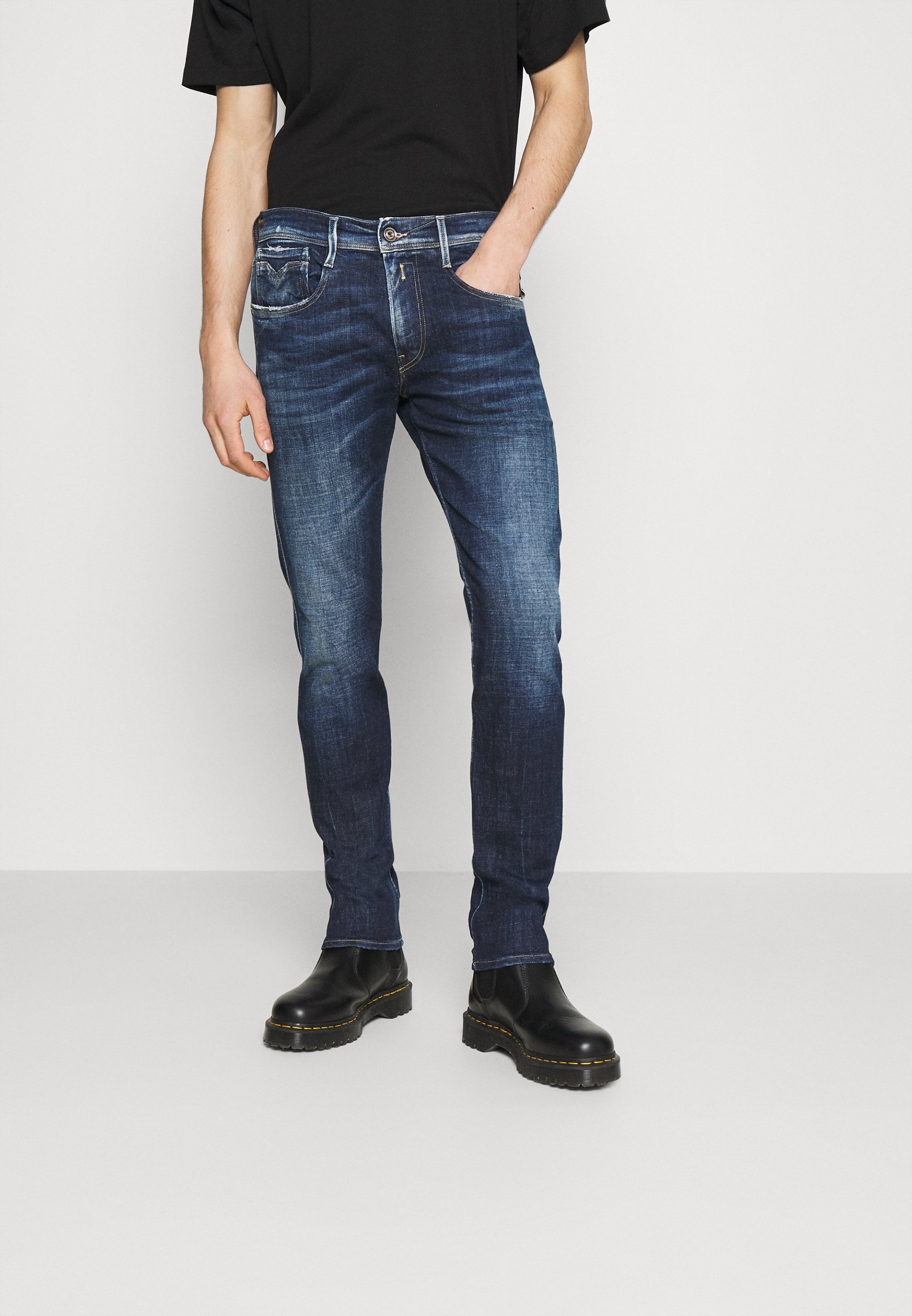 Uomo ANBASS AGED - Jeans slim fit
