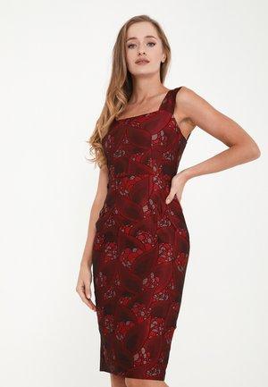 ALIANA - Shift dress - wein rot, rot