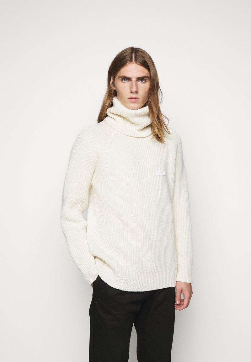 GCDS - TURTLENECK SWEATER - Jumper - white
