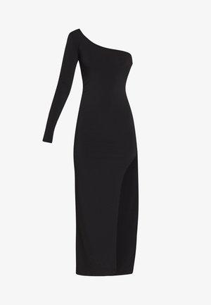 ONE SHOULDER SLIT DRESS - Occasion wear - black
