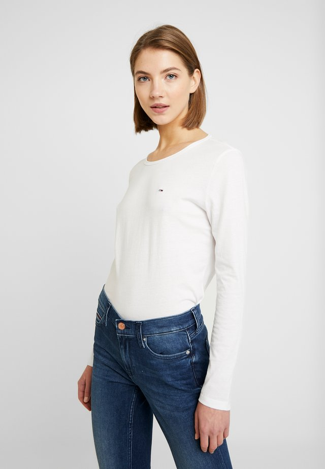 TJW SOFT JERSEY LONGSLEEVE - Pitkähihainen paita - classic white