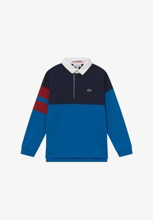 LONGSLEEVE - Polo shirt - navy blue/utramarine/alizarin/white