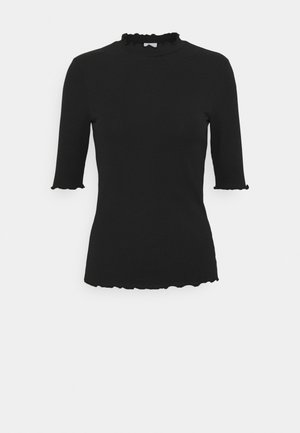 VIJULLA HIGH NECK - Basic T-shirt - black