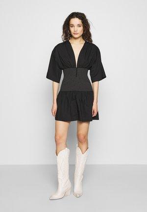 NIKOLINA MINI DRESS - Day dress - black