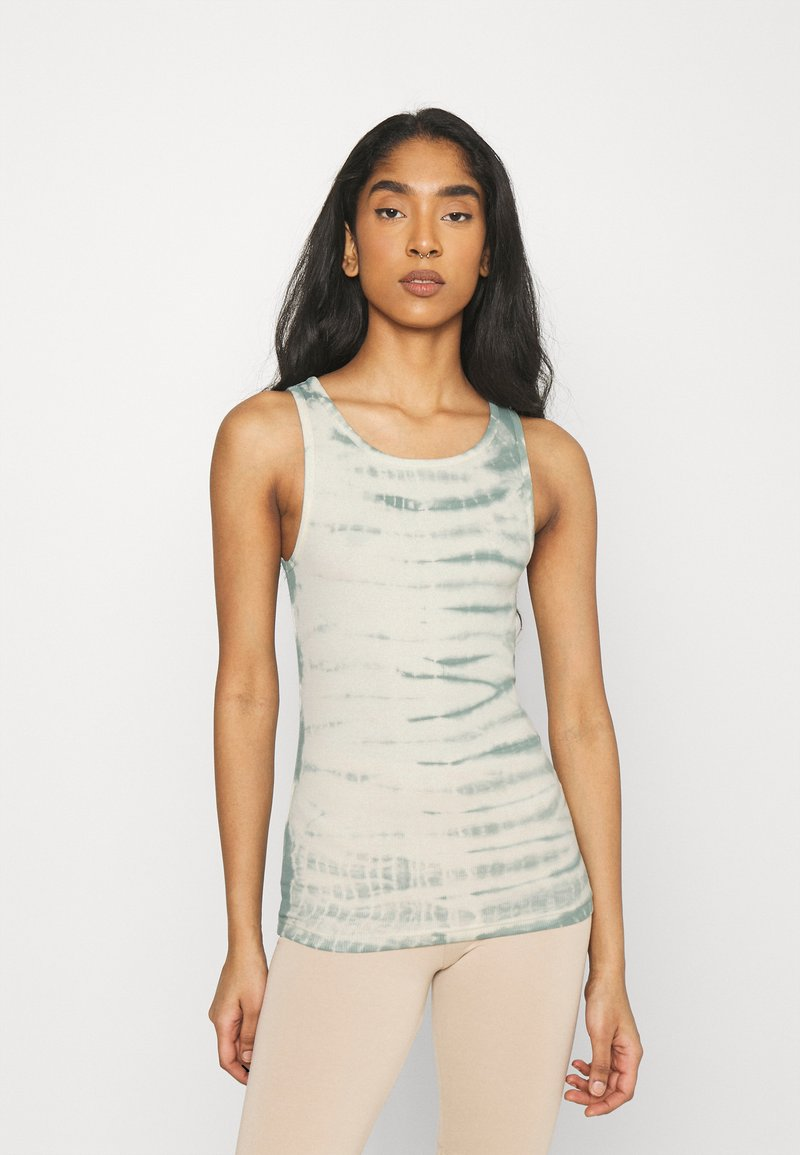 Weekday - STELLA PRINTED TANK - Toppe - dusty green/off-white