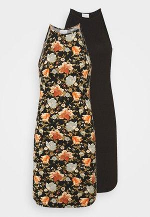 VIBE SINGLET DRESS 2 PACK - Jersey dress - black/black/red/blue
