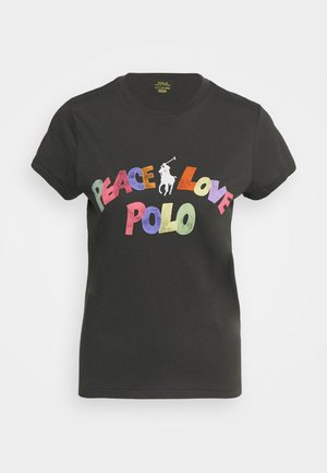 SHORT SLEEVE - T-shirt z nadrukiem - black