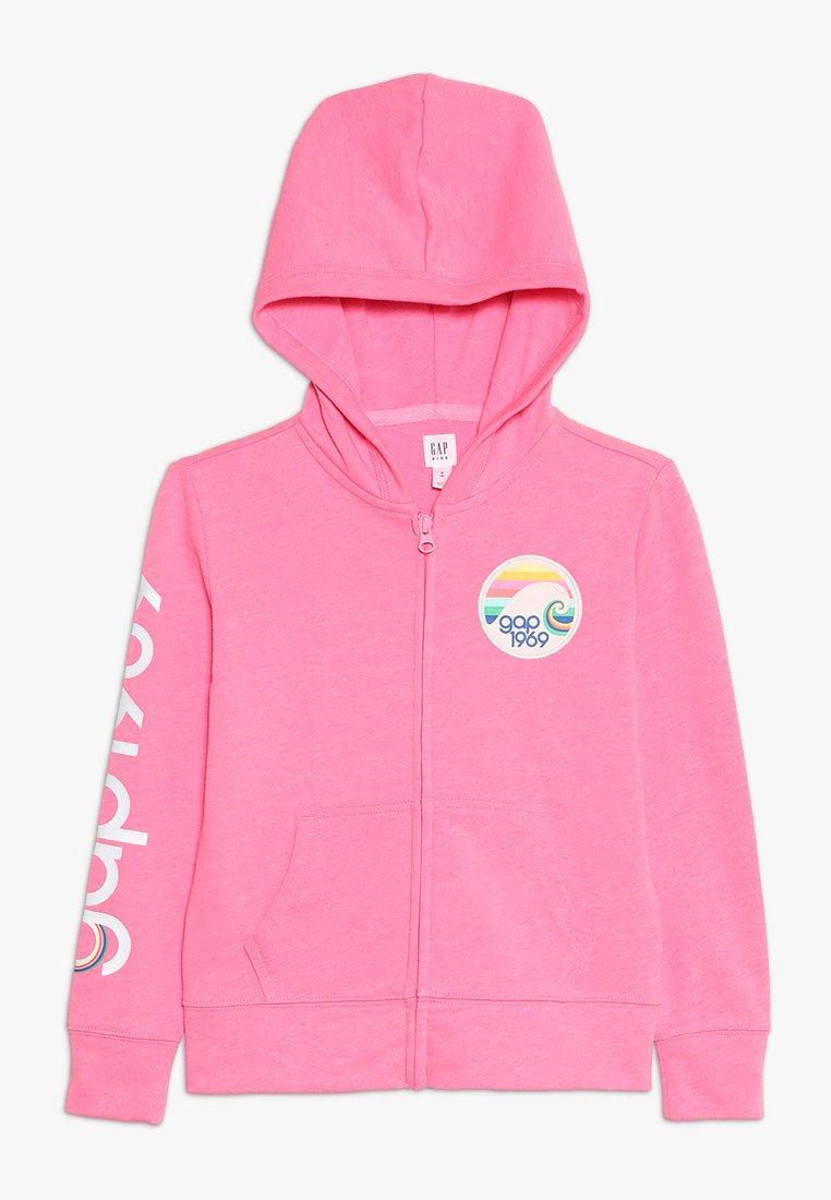 GAP - GIRLS - Zip-up hoodie - neon malibu pink