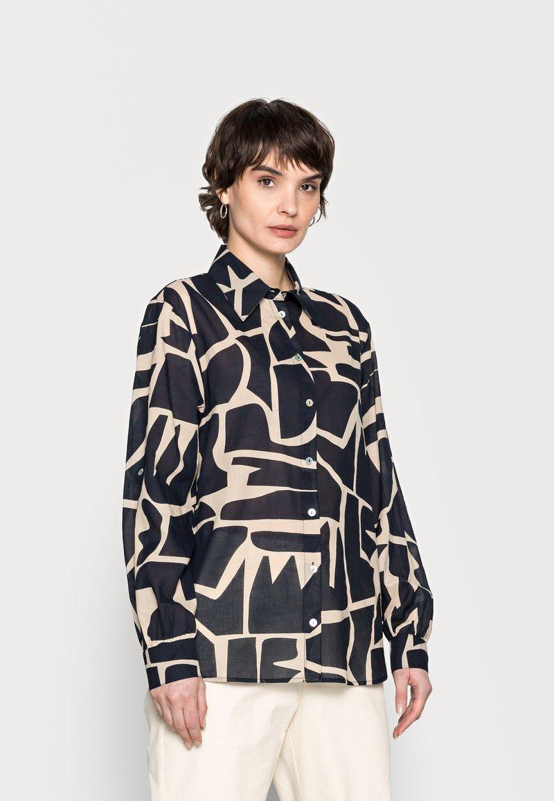 Opus - FUMINE - Button-down blouse - oak tree