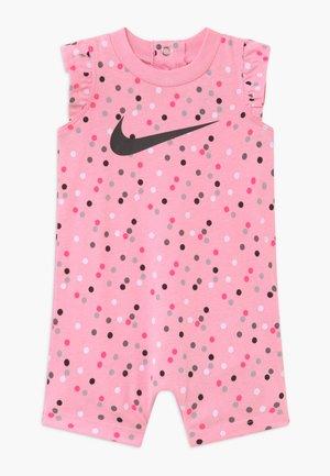 GIRLS FLUTTER SLEEVE ROMPER BABY - Overal - pink