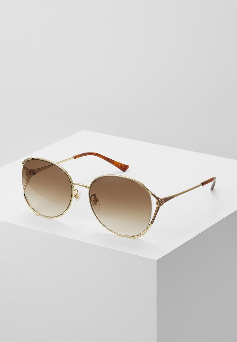 Gucci - Sunglasses - gold-coloured/brown