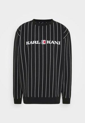RETRO PINSTRIPE CREW - Sweater - black