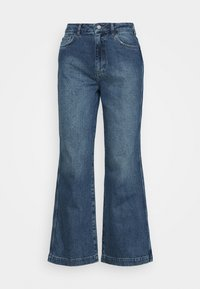 HIGH RISE WIDE LEG  - Relaxed fit jeans - mid blue wash